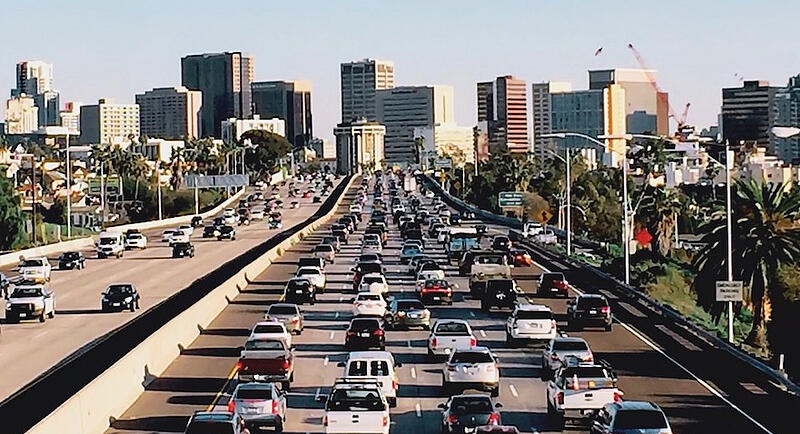 Picture of San Diego's traffic by a computer vision app
