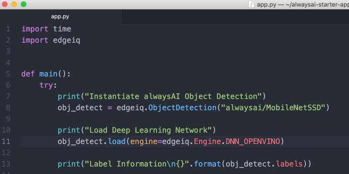 Screenshot of the configuration process using Raspberry Pi