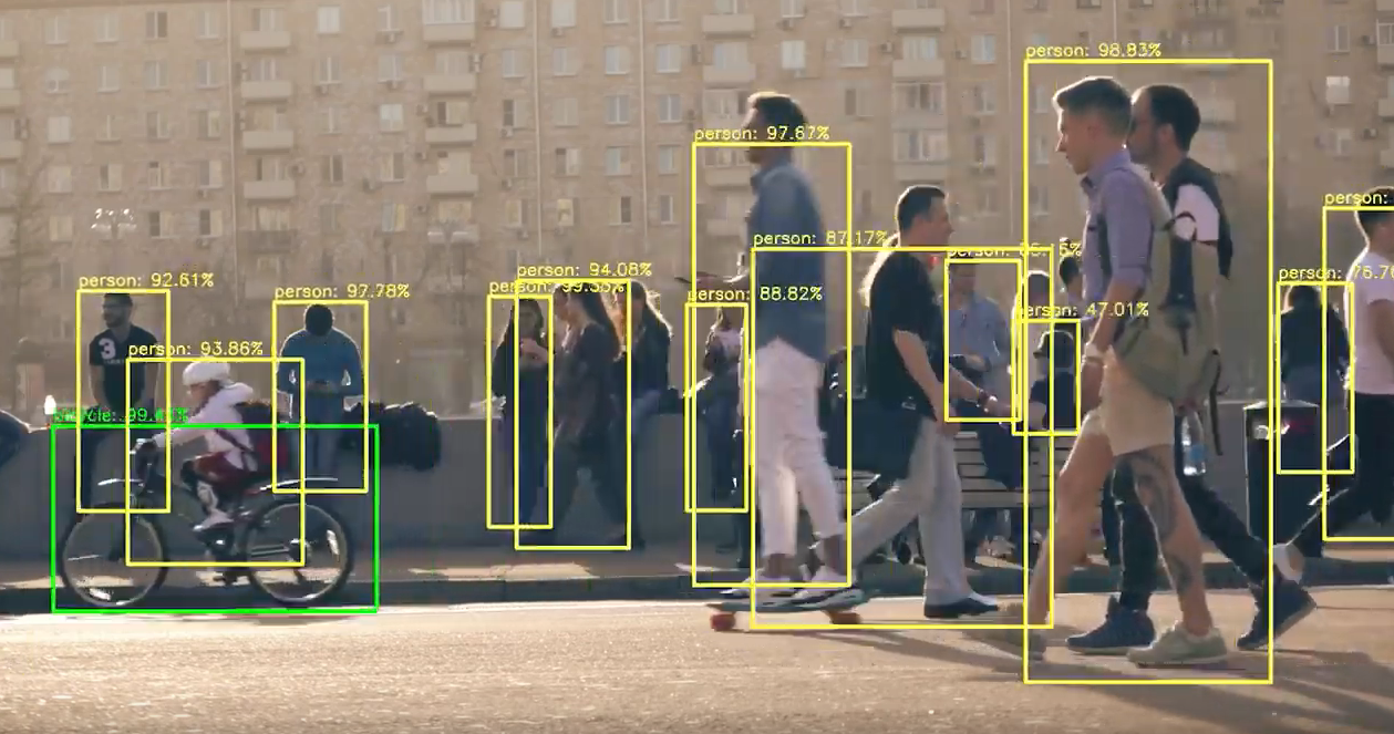 Human detection using alwaysAI computer vision object detection