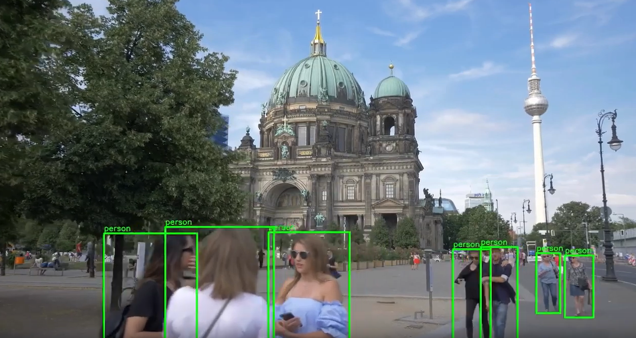 Tracking humans in the frame using alwaysAI