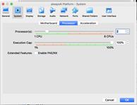 Virtual box from alwaysAI platform. install ubuntu desktop