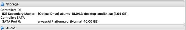 Ubuntu storage from alwaysAI