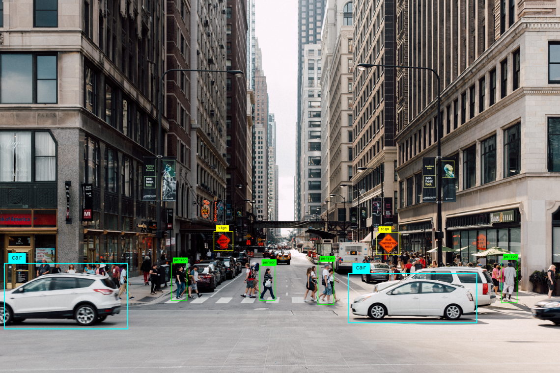Recognizing people walking in a busy street with Computer Vision