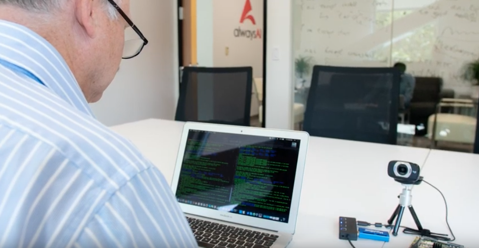 Software developer working with a computer vision  on an embedded device for object detection