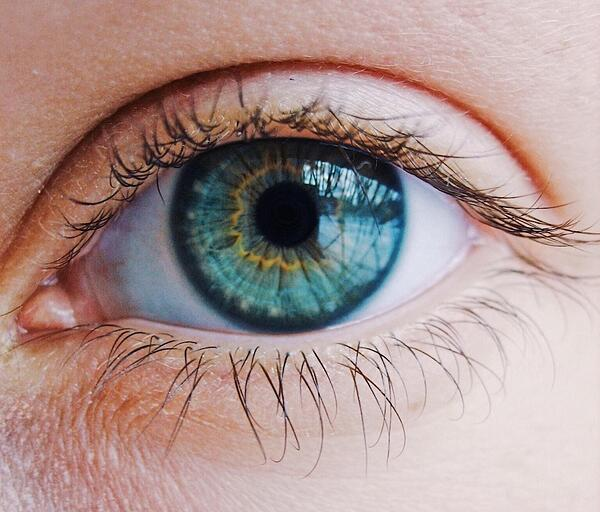 Close-up picture of an eye. computer vision reference