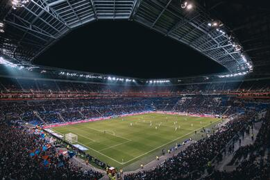 Picture of and stadium, example of Computer Vision