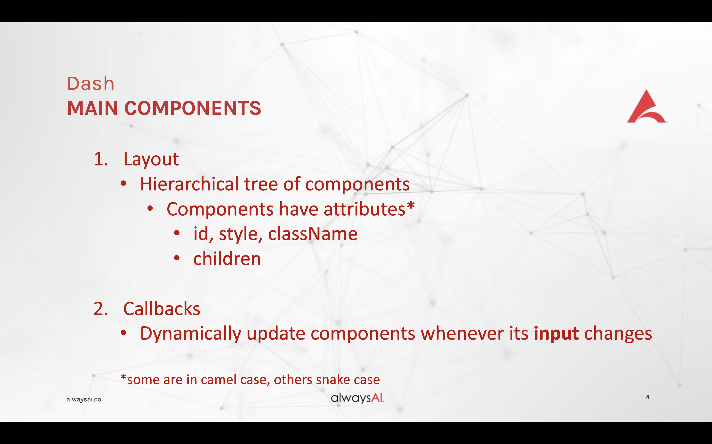 Dash components