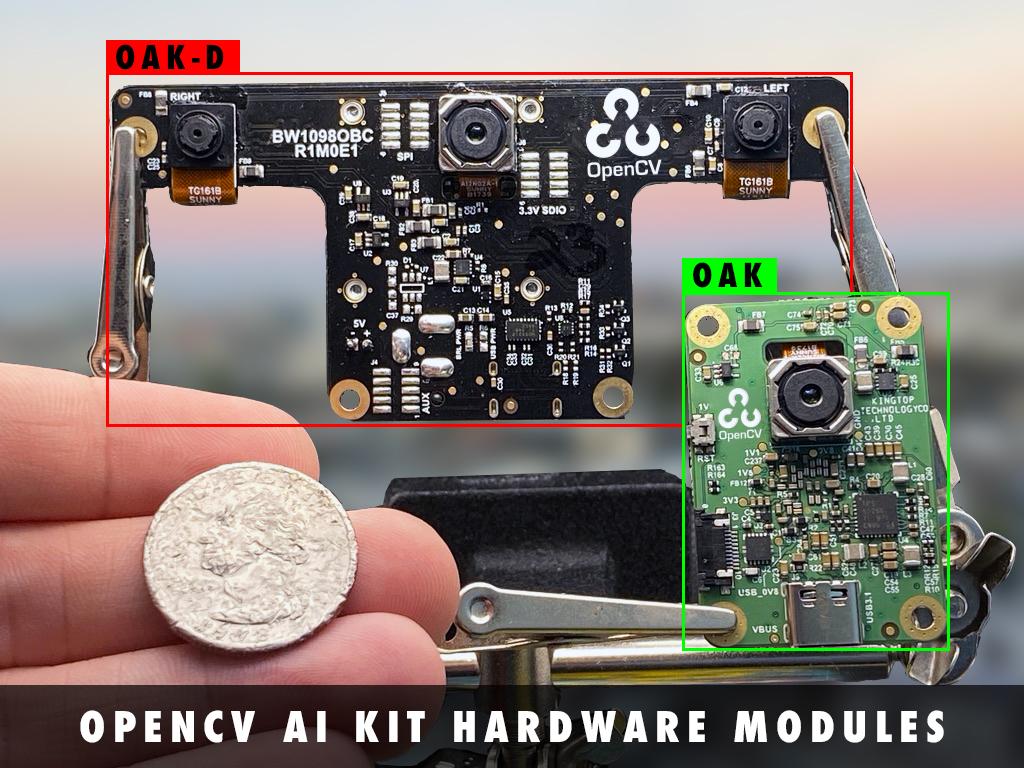 Comparison between OAK-D and OAK Cameras