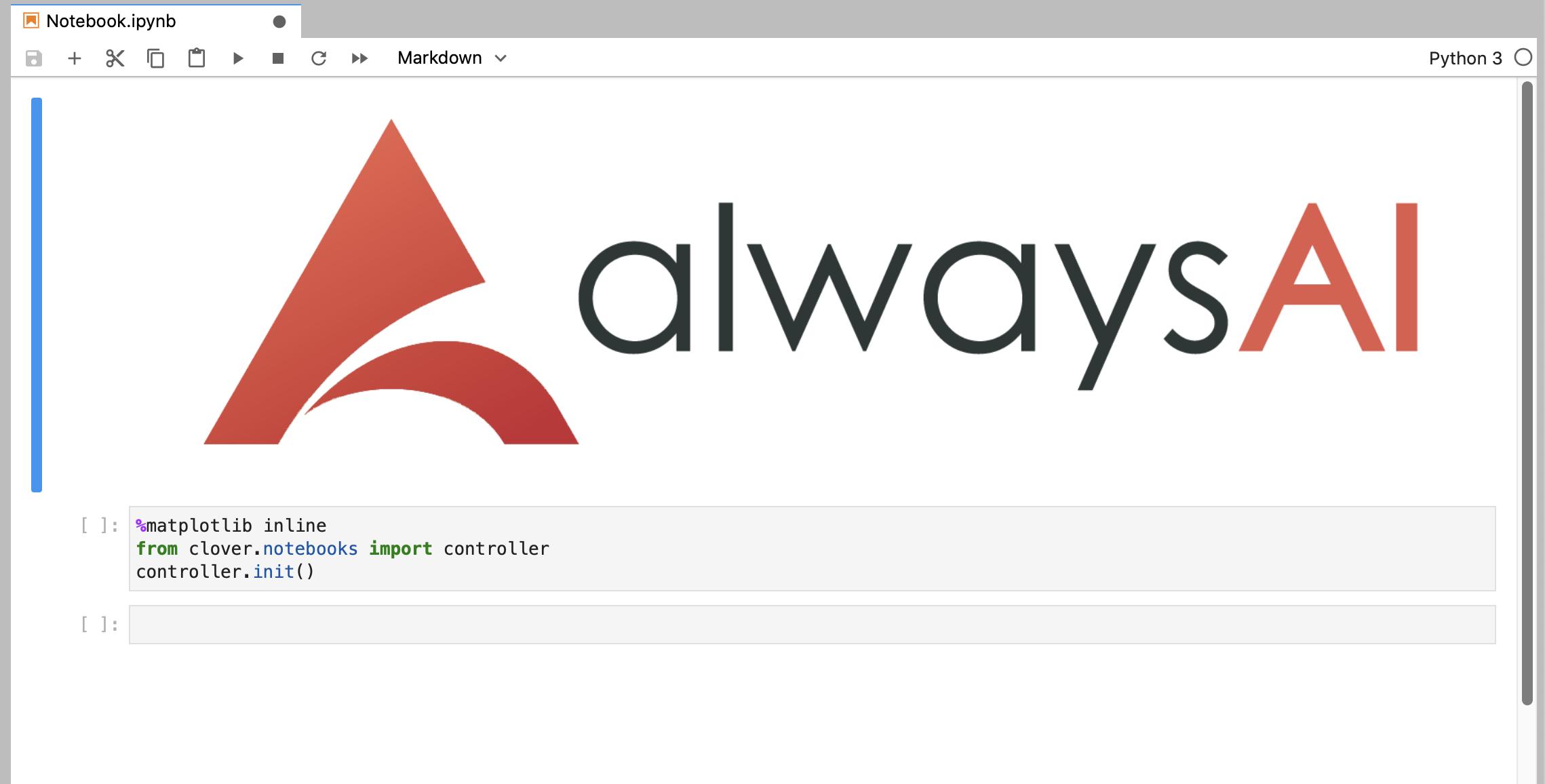 screenshot of the AlwaysAI Training Environment. example of AlwaysAI Model Training