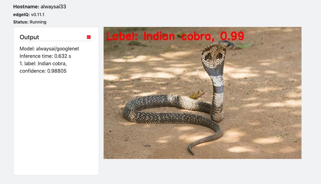 Screenshot of an snake. using Image Classification